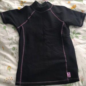 Fleece lined t shirt